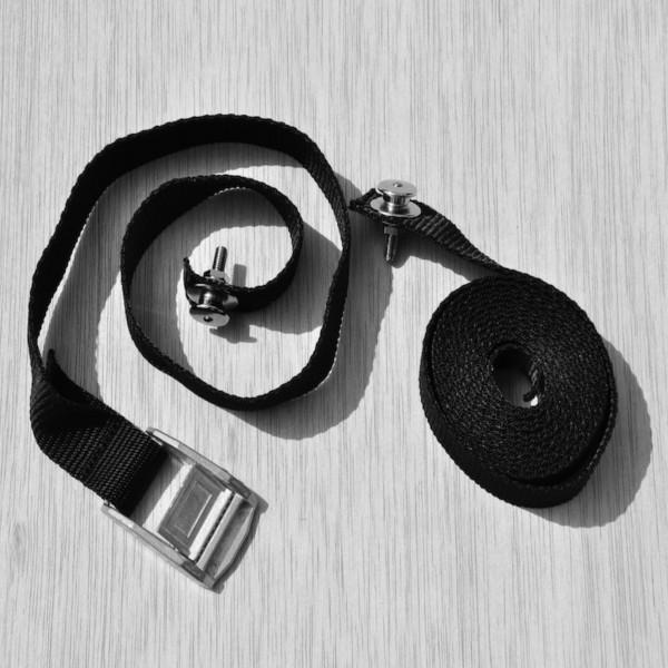 Sicherungsband schwarz mit Loxx - Knöpfen